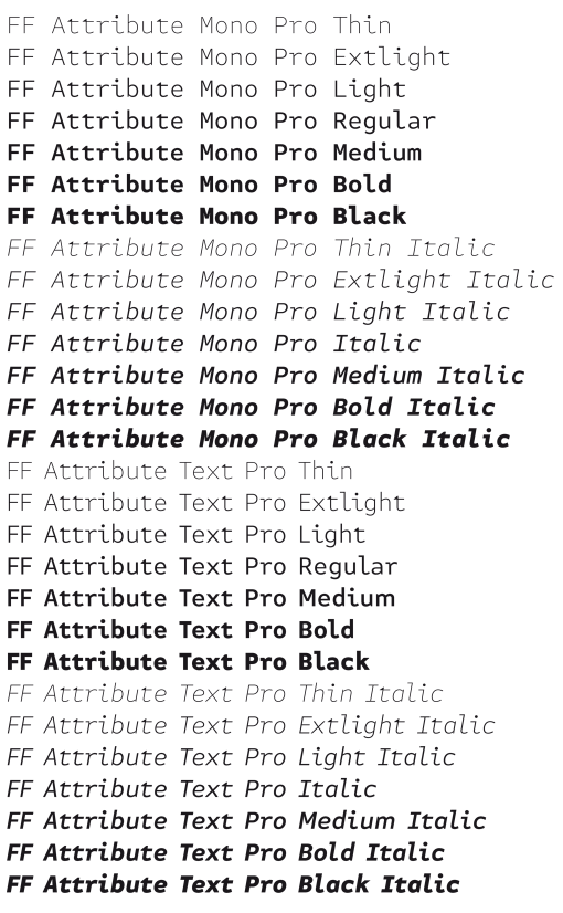 FF Attribute Weights