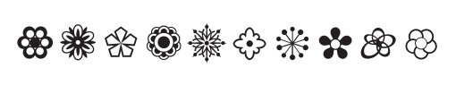 Babetta Type Family Flower Icons