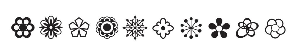 Babetta Type Family Flower Icons