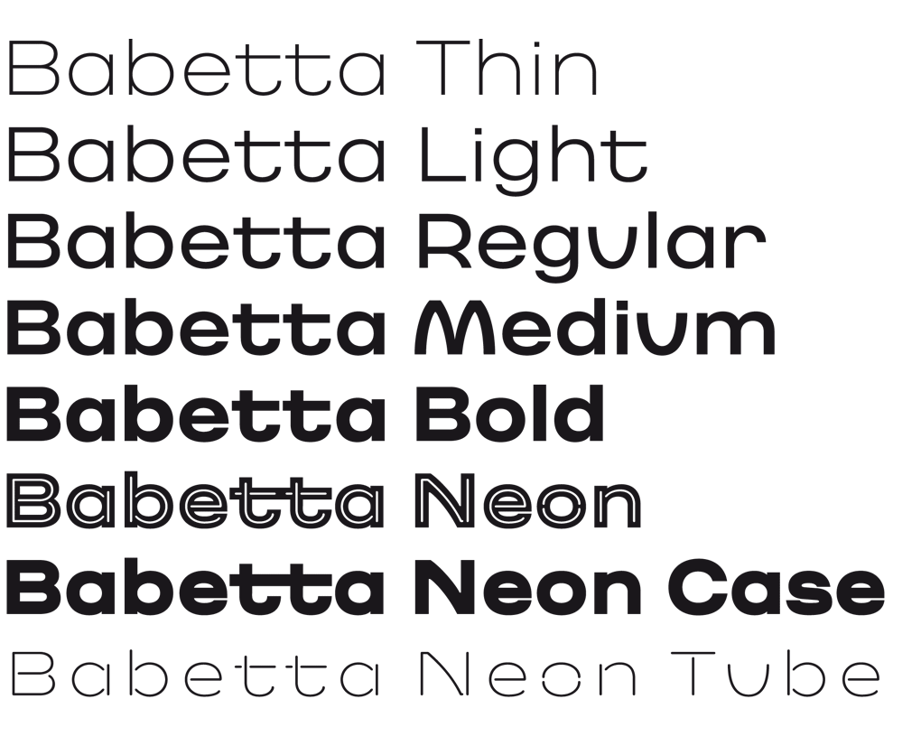 Babetta Type Family Weights