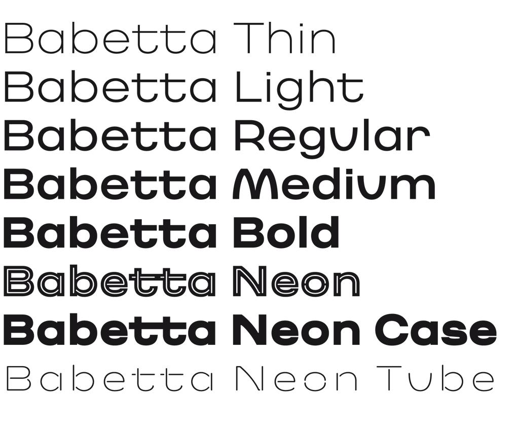 Babetta Type Family Weights