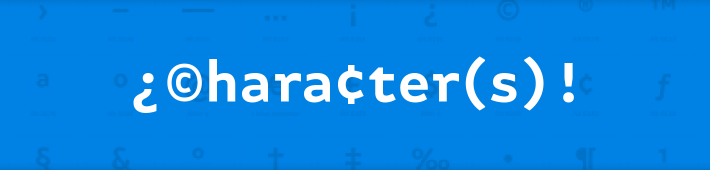 ¿©hara¢ter(s)! – Special character app