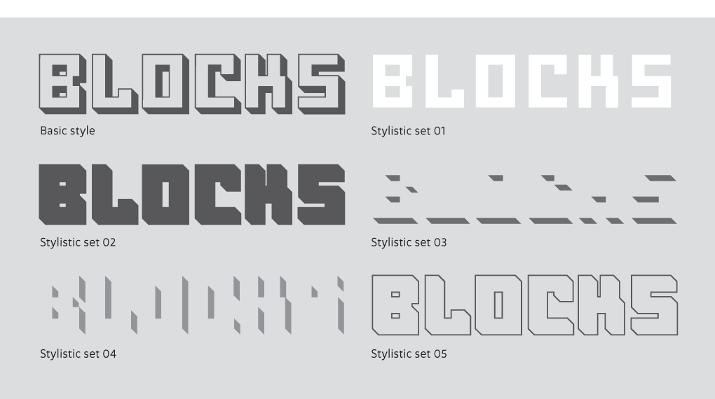 OSTBLOCK stylistic sets
