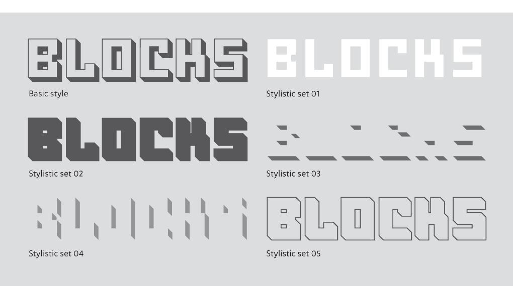 OSTBLOCK stylistic sets
